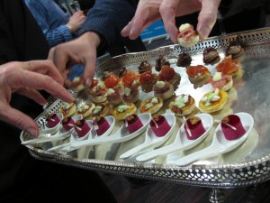 canapés at Exeter College