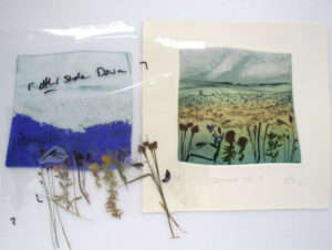 Cranmire Pool with photo etching and carborundum plate. Lynn Bailey